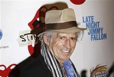 """<p>Guitarrista dos Rolling Stones, Keith Richards, chega à estreia do documentário """"Stones In Exile"""" em Nova York. Richards diz em sua nova autobiografia que Mick Jagger se tornou insuportável com o passar dos anos. 11/05/2010 REUTERS/Lucas Jackson/Arquivo</p>"""