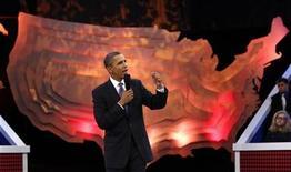 """<p>Imagen de archivo del presidente estadounidense, Barack Obama, en un programa de televisión en Washington. Oct 14 2010 El presidente estadounidense, Barack Obama, aparecerá el mes próximo en """"Mythbusters"""", una serie de televisión que utiliza la ciencia para investigar mitos populares. REUTERS/Kevin Lamarque/ARCHIVO</p>"""