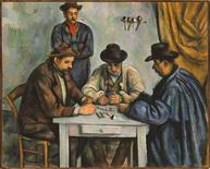 <p>Paul Cézanne's 'The Card Players,' c.1890-92, is seen in this undated handout photo. REUTERS/The Metropolitan Museum of Art/Art Resource, NY/ Scala, Florence/Handout</p>