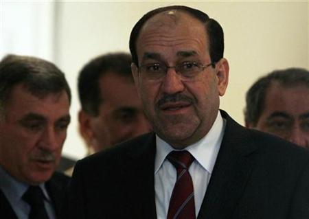 Iraq's Prime Minister Nuri al-Maliki arrives for a news conference after meeting Egypt's President Hosni Mubarak at the presidential palace in Cairo October 20, 2010. REUTERS/Amr Abdallah Dalsh