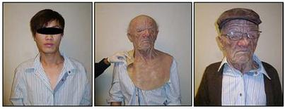 <p>Combination photo shows a man in custody with and without his disguise in this handout image released to Reuters on November 5, 2010. REUTERS/Canada Border Services/Handout</p>