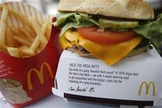 <p>McDonald's product is pictured in a restaurant in Washington, July 23, 2010. REUTERS/Molly Riley</p>