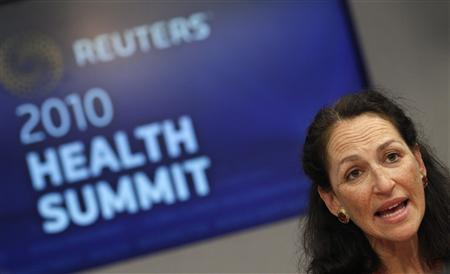 U.S. Food and Drug Administration (FDA) Commissioner Margaret Hamburg, M.D., speaks at the Reuters Health Summit in New York, November 9, 2010. REUTERS/Mike Segar