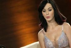 """<p>Singer Katy Perry reacts during the German game show """"Wetten Dass"""" (Bet it...?) in Munich October 2, 2010. Wetten Dass is one of the most popular Saturday night programs in Germany and Austria. REUTERS/Michaela Rehle</p>"""