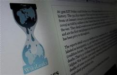 <p>Pimer plano de la página de inicio del sitio web Wikileaks.org, nov 28 2010. La Casa Blanca ordenó el lunes reforzar la seguridad para evitar filtraciones como la publicación de más de 250.000 cables del Departamento de Estado, que avergonzó al Gobierno estadounidense y a algunos de sus aliados. REUTERS/Gary Hershorn</p>