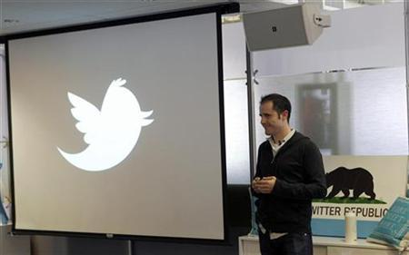 Twitter CEO Evan Williams speaks at a news conference as the website Twitter.com is launched, in San Francisco, California September 14, 2010. REUTERS/Robert Galbraith