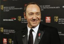 <p>Actor Kevin Spacey poses at the 19th Annual BAFTA (British Academy of Film and Television Arts) Los Angeles Britannia Awards in Los Angeles in this November 4, 2010 file photo. REUTERS/Mario Anzuoni/Files</p>