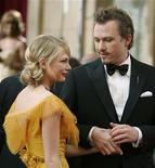 """<p>Michele Williams conheceu Heath Ledger nas filmagens de """"O Segredo de Brokeback Mountain"""", em papéis pelos quais ambos foram indicados ao Oscar. 05/03/06 REUTERS/Lucy Nicholson</p>"""