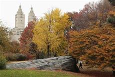 <p>Vue de Central Park à New York. Le Conseil suprême des antiquités égyptiennes menace de reprendre l'obélisque de Central Park si la municipalité de New York ne prend pas de mesures pour le restaurer. /Photo d'archives/REUTERS/Lucas Jackson</p>