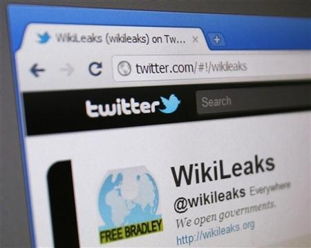 WikiLeaks' Twitter page is seen on a computer screen in Singapore January 9, 2011. REUTERS/Tim Chong