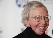 <p>Film critic Roger Ebert arrives to attend the Webby Awards in New York June 14, 2010. REUTERS/Lucas Jackson</p>