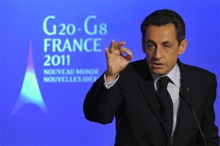 France's President Nicolas Sarkozy speaks during a news conference at the Elysee Palace in Paris, January 24, 2011. REUTERS/Philippe Wojazer