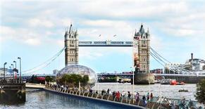 <p>Undated representation of what a floating walkway to open up London's hidden past will look like. REUTERS/Mayor of London/Handout</p>