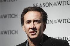 """<p>Nicolas Cage na estreia do filme """"Caça às Bruxas"""" em Nova York. 04/01/2011 REUTERS/Lucas Jackson</p>"""