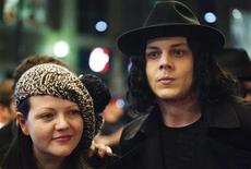 """<p>Jack and Meg White arrive for the """"White Stripes: Under the Great White Northern Lights"""" film screening during the 34th Toronto International Film Festival, September 18, 2009. REUTERS/Mark Blinch</p>"""