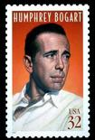 <p>The United States postage stamp honouring actor Humphrey Bogart, which was issued during ceremonies July 31, 1997 at Mann's Chinese Theatre in Hollywood,California, is shown in this undated photograph. REUTERS/Ho New</p>