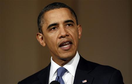 President Barack Obama speaks about Libya from the White House in Washington February 23, 2011. REUTERS/Kevin Lamarque