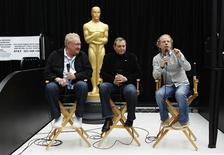 <p>Academy president Tom Sherak (C) sits with producers Bruce Cohen (R) and Don Mischer at a news conference regarding preparations for the 83rd Academy Awards in Hollywood, California February 25, 2011. The Oscars will be presented at the Kodak Theatre February 27, 2011. REUTERS/Lucas Jackson</p>