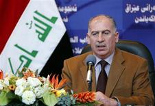 <p>Iraqi parliament speaker Osama al-Nujaifi speaks during a news conference in Baghdad February 27, 2011. REUTERS/Mohammed Ameen</p>