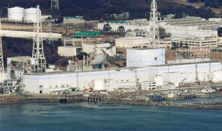An aerial view shows Fukushima Daiichi nuclear power plant in Fukushima March 17, 2011. REUTERS/Kyodo