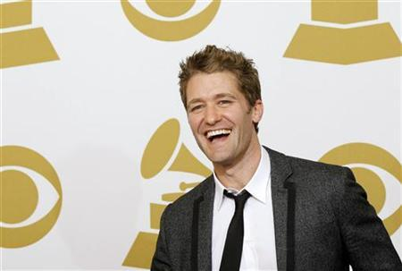Presenter Matthew Morrison poses backstage at the 53rd annual Grammy Awards in Los Angeles, California February 13, 2011. REUTERS/Mario Anzuoni