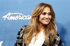 """<p>American Idol judge Jennifer Lopez poses at the party for the finalists of the television show """"American Idol"""" in Los Angeles March 3, 2011. REUTERS/Mario Anzuoni</p>"""