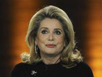 "<p>French actress Catherine Deneuve attends the German TV game show ""Wetten Dass...?"" (Bet it...?) in Augsburg, southern Germany, on March 19, 2011. REUTERS/Christof Stache/Pool</p>"