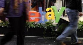 <p>Le groupe eBay va racheter le spécialiste de la vente en ligne GSI Commerce pour 2,4 milliards de dollars (1,7 milliard d'euros). /Photo d'archives/REUTERS/Tobias Schwarz</p>