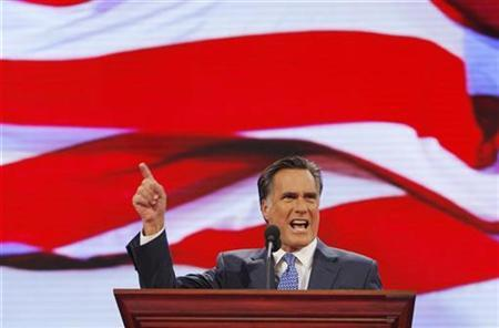 Mitt Romney speaks during the third session of the 2008 Republican National Convention in St. Paul, Minnesota, September 3, 2008. REUTERS/Brian Snyder