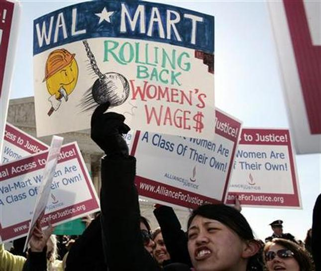 wal mart discrimination Plaintiffs in the dukes v wal-mart stores, inc, gender discrimination case filed a motion for class certification in federal court on monday.