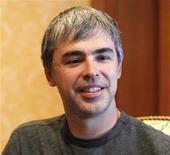 <p>Co-fundador do Google e atual presidente-executivo, Larry Page, em foto de janeiro de 2011. O Google reportou lucro trimestral inferior às expectativas do mercado devido a uma alta nas despesas. 20/01/2011 REUTERS/Mario Anzuoni/Arquivo</p>