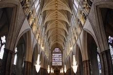 <p>A general view shows the roof in Westminster Abbey during the ceremony for the ninth Inauguration of the General Synod, attended by Britain's Queen Elizabeth and Prince Philip, and the Archbishop of Canterbury Rowan Williams, in central London November 23, 2010. REUTERS/Dan Kitwood/Pool</p>