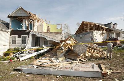 Tornadoes tear through the South
