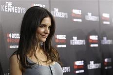 """<p>Cast member Katie Holmes poses at the premiere of the television series """"The Kennedys"""" at the Samuel Goldwyn theatre in Beverly Hills, California March 28, 2011. REUTERS/Mario Anzuoni</p>"""