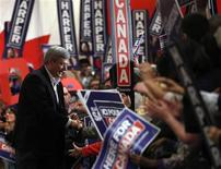<p>Conservative leader and Canada's Prime Minister Stephen Harper greets supporters during a campaign rally in Brampton, Ontario April 29, 2011. REUTERS/Chris Wattie</p>