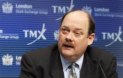 <p>TMX Group CEO Tom Kloet speaks during a news conference regarding the merger of the TSX and the London Stock Exchange (LSE) in Toronto, February 9, 2011. REUTERS/Mark Blinch</p>