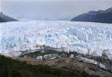 <p>A general view of the leading edge of Perito Moreno glacier in the southern Patagonia region near El Calafate, January 3, 2009.REUTERS/Ernesto Fernandez</p>