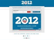 <p>Заставка на сайте выборной кампании Барака Обамы, 4 апреля 2011 года. Заместитель руководителя избирательного штаба Барака Обамы отправила сторонникам нынешнего президента США электронные письма с необычной просьбой - поделиться лишними диванами с волонтерами выборной кампании. REUTERS/http://www.barackobama.com</p>