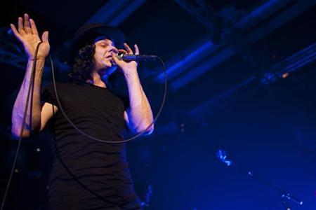 Jack White from rock band The Dead Weather performs onstage during the 44th Montreux Jazz Festival in Montreux July 3, 2010. REUTERS/Valentin Flauraud
