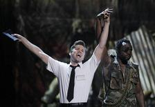 <p>Actor Andrew Rannells performs a scene from 'Book of Mormon during the American Theatre Wing's 65th annual Tony Awards ceremony in New York, June 12, 2011. REUTERS/Gary Hershorn</p>