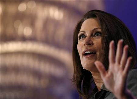 Representative Michele Bachmann (R-MN) speaks at the Faith & Freedom Conference and Strategy Briefing in Washington June 3, 2011. REUTERS/Molly Riley