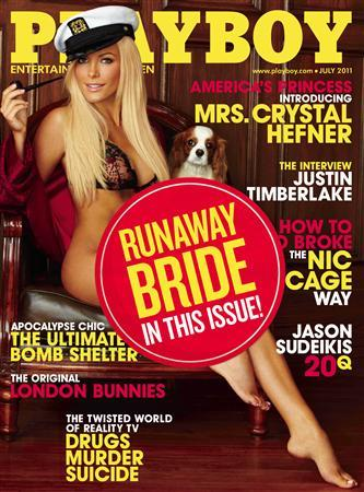 Crystal Harris on the cover of the upcoming July Playboy issue. REUTERS/Playboy