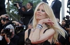 """<p>Model Claudia Schiffer arrives on the red carpet for the screening of the film """"This Must Be The Place"""", in competition at the 64th Cannes Film Festival May 20, 2011. REUTERS/Jean-Paul Pelissier</p>"""
