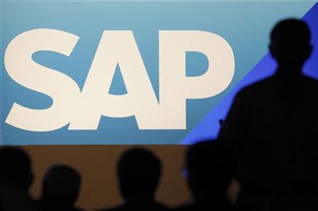 Shareholders arrive for the German software group SAP general shareholder assembly in Mannheim, May 25, 2011. REUTERS/Alex Domanski