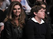 <p>Maria Shriver and son Christopher Schwarzenegger attend the NBA basketball All-Star weekend in Los Angeles February 19, 2011. REUTERS/Danny Moloshok</p>