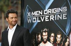 """<p>Cast member Hugh Jackman poses at an industry screening of """"X-Men Origins: Wolverine"""" at the Grauman's Chinese theatre in Hollywood, California in this April 28, 2009 file photo. REUTERS/Mario Anzuoni/Files</p>"""