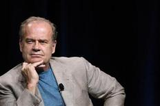 """<p>Cast member Kelsey Grammer listens to a reporter's question at the Starz session for """"Boss"""" at the Summer Television Critics Association Cable Press Tour in Beverly Hills, California July 29, 2011. REUTERS/Mario Anzuoni</p>"""