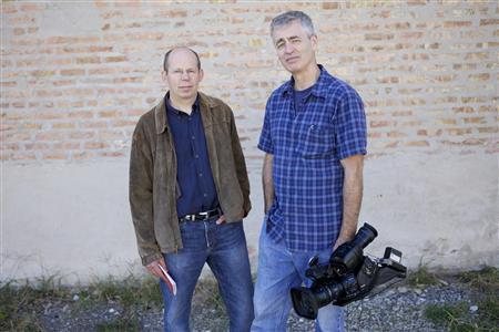 Producer Alex Kotlowitz (L) and Producer/Director Steve James in the film ''The Interrupters''. REUTERS/Aaron Wickenden/Kartemquin Films
