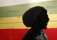 "<p>Jamaican musician David ""Ziggy"" Marley attends the opening day of the exhibit ""Bob Marley, Messenger"" at the Grammy Museum in Los Angeles May 11, 2011. REUTERS/Mario Anzuoni</p>"