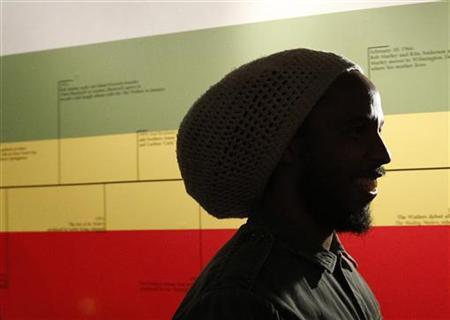 Jamaican musician David ''Ziggy'' Marley attends the opening day of the exhibit ''Bob Marley, Messenger'' at the Grammy Museum in Los Angeles May 11, 2011. REUTERS/Mario Anzuoni